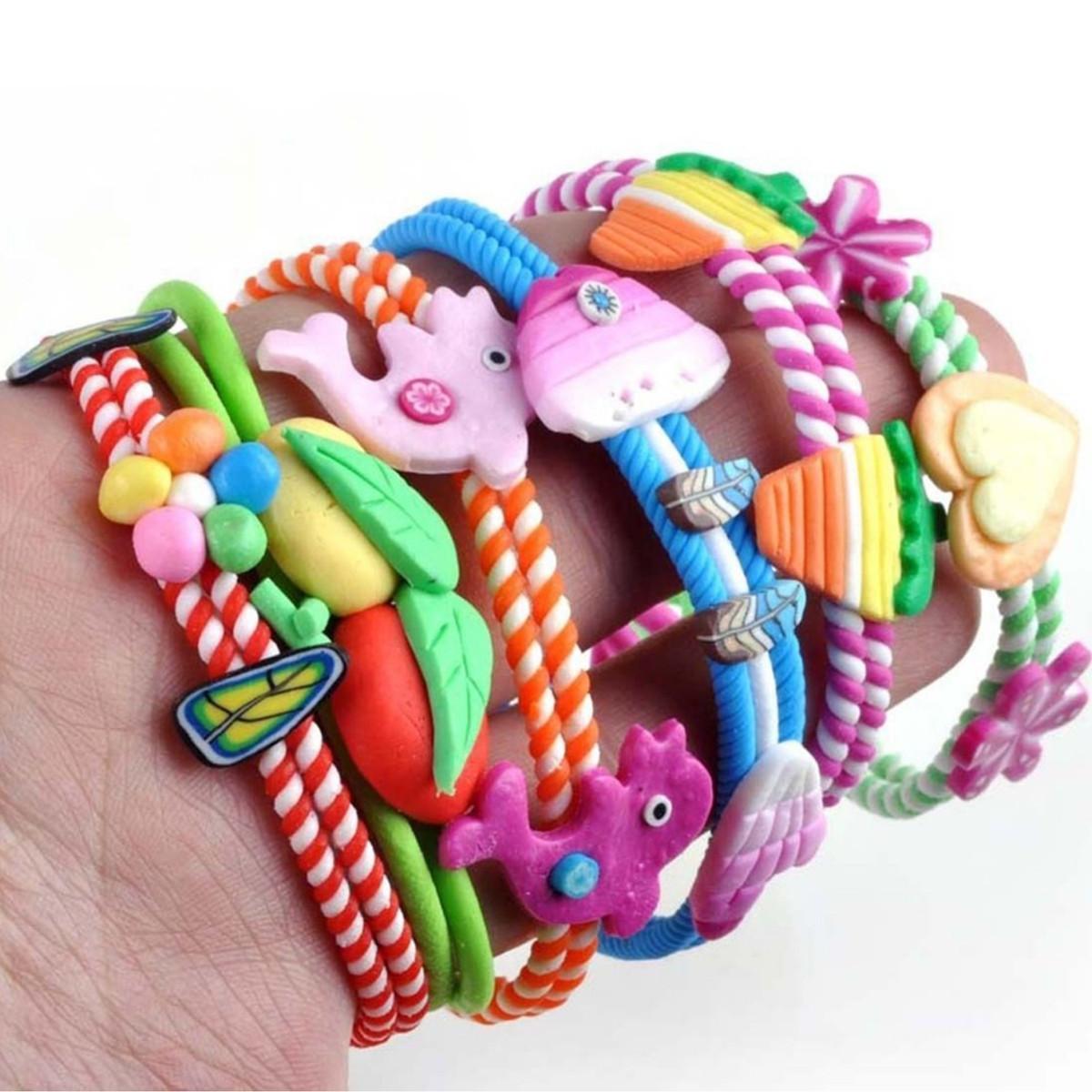 Sweet-Baby-Bangle-Jewelry-Polymer-Clay-Kids-Children-Bracelets-Wrist-band thumbnail 5