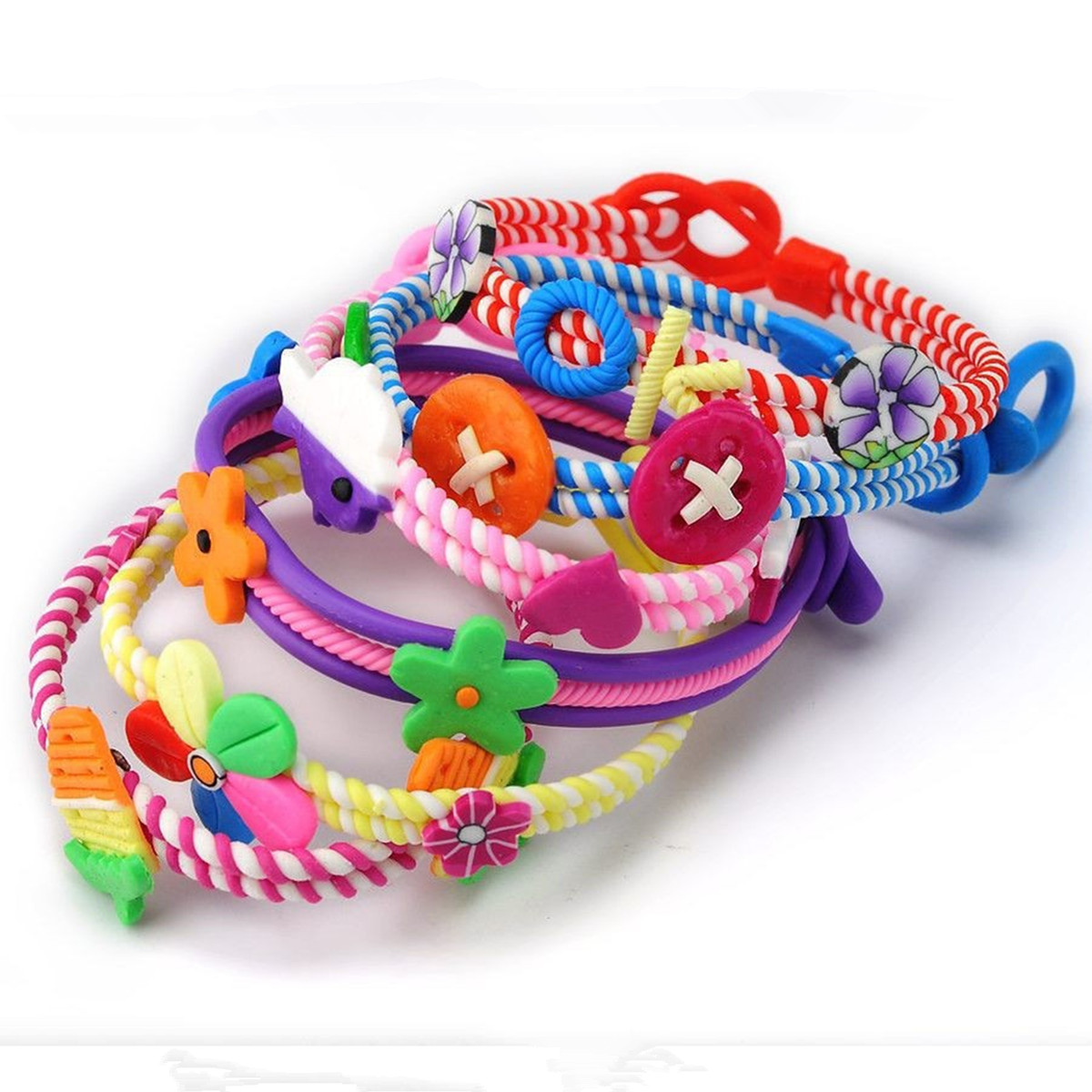 Sweet-Baby-Bangle-Jewelry-Polymer-Clay-Kids-Children-Bracelets-Wrist-band thumbnail 2