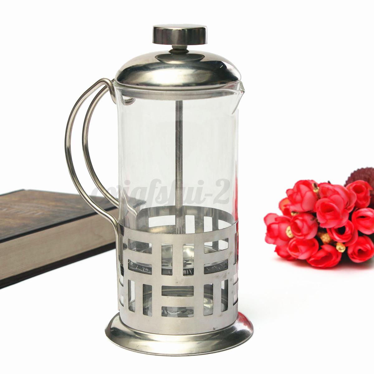 edelstahl kaffeebereiter teebereiter kaffeekocher teekanne kaffeepresse 350 ml eur 6 85. Black Bedroom Furniture Sets. Home Design Ideas