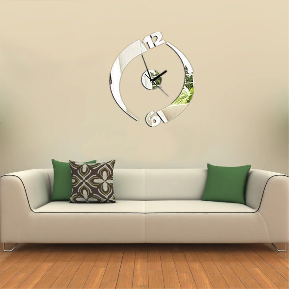 diy 3d horloge pendule murale art d coration design moderne mur maison salon ebay. Black Bedroom Furniture Sets. Home Design Ideas
