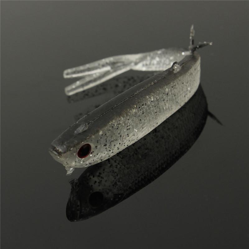 1 10pcs soft silicone tiddler bait fluke fish fishing for Fluke fishing bait