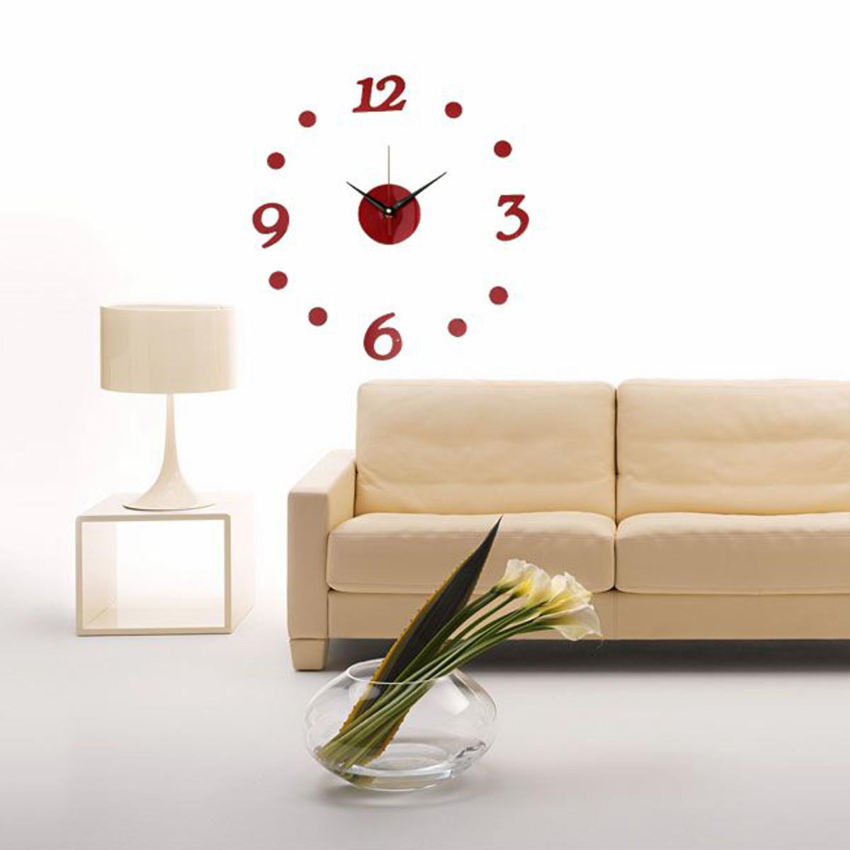 3d diy horloge murale point num rique moderne maison for Decoration murale 3d