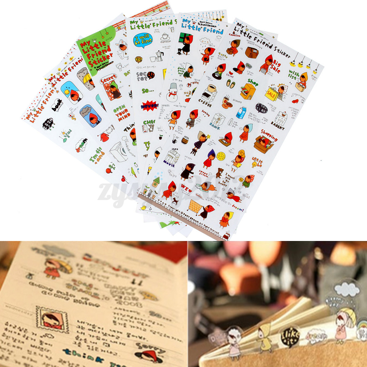 Album Scrapbook Calendar Diary Planner Card Photo Letter Stickers