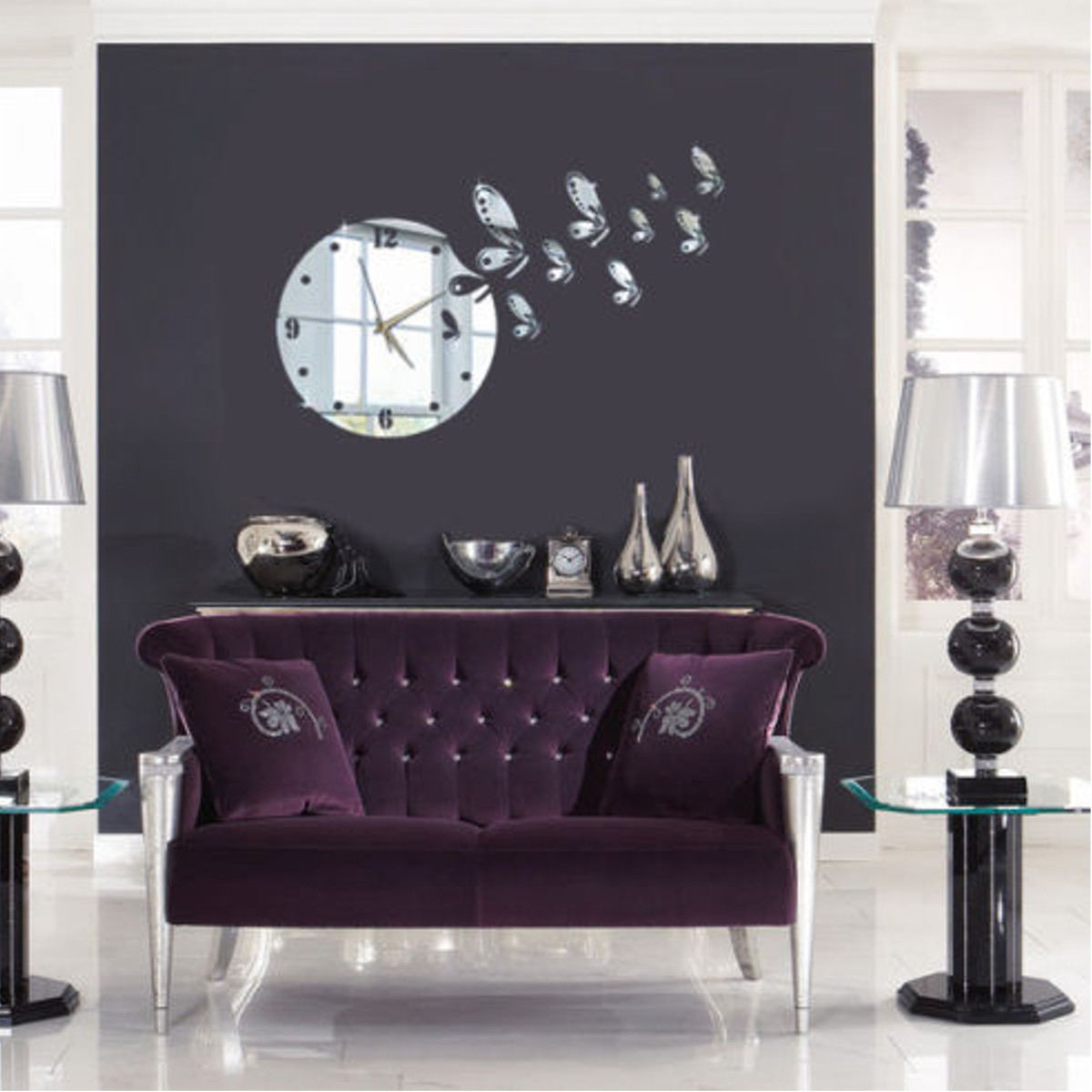 diy 3d horloge pendule murale art d coration design. Black Bedroom Furniture Sets. Home Design Ideas