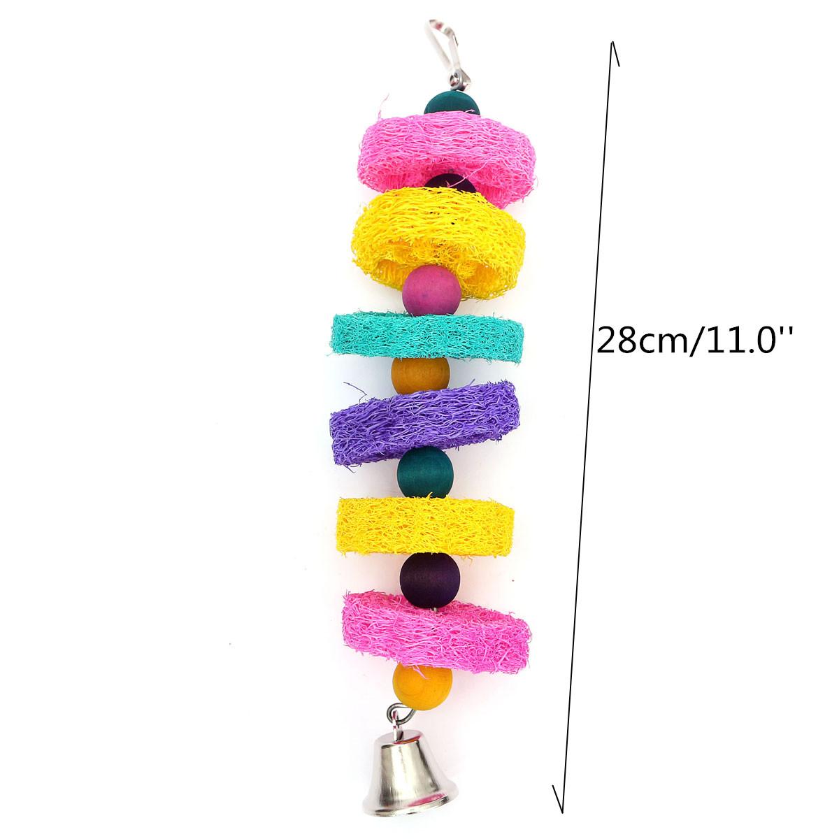 Parakeet Chew Toys : Pet bird parrot swing toys cage chew bite parakeet