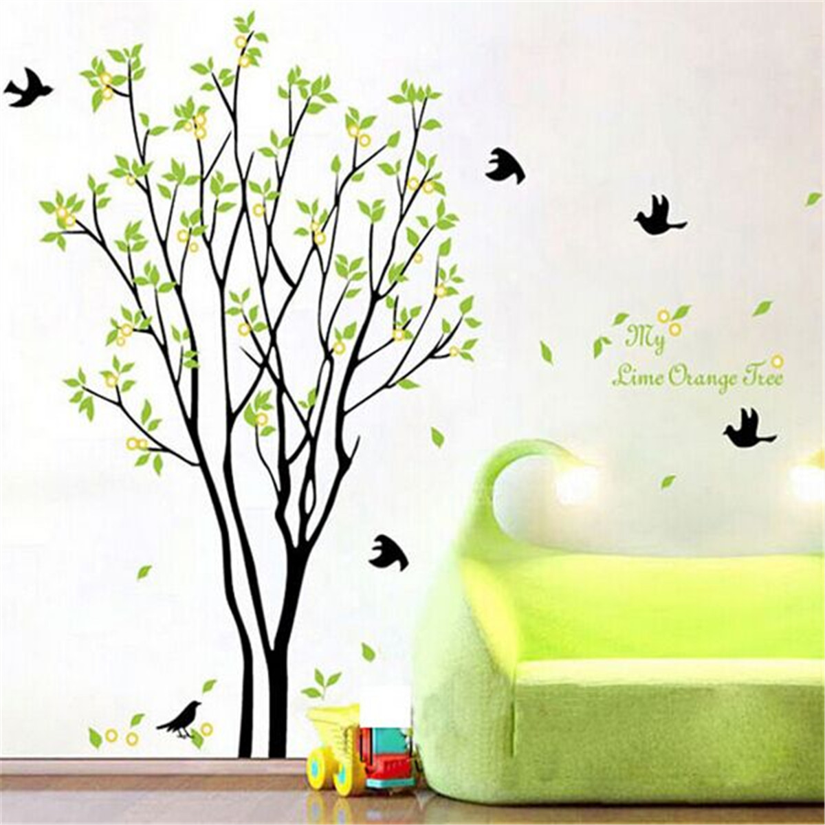 Wall art stickers birds : Tree bird quote removable vinyl wall decal mural home art