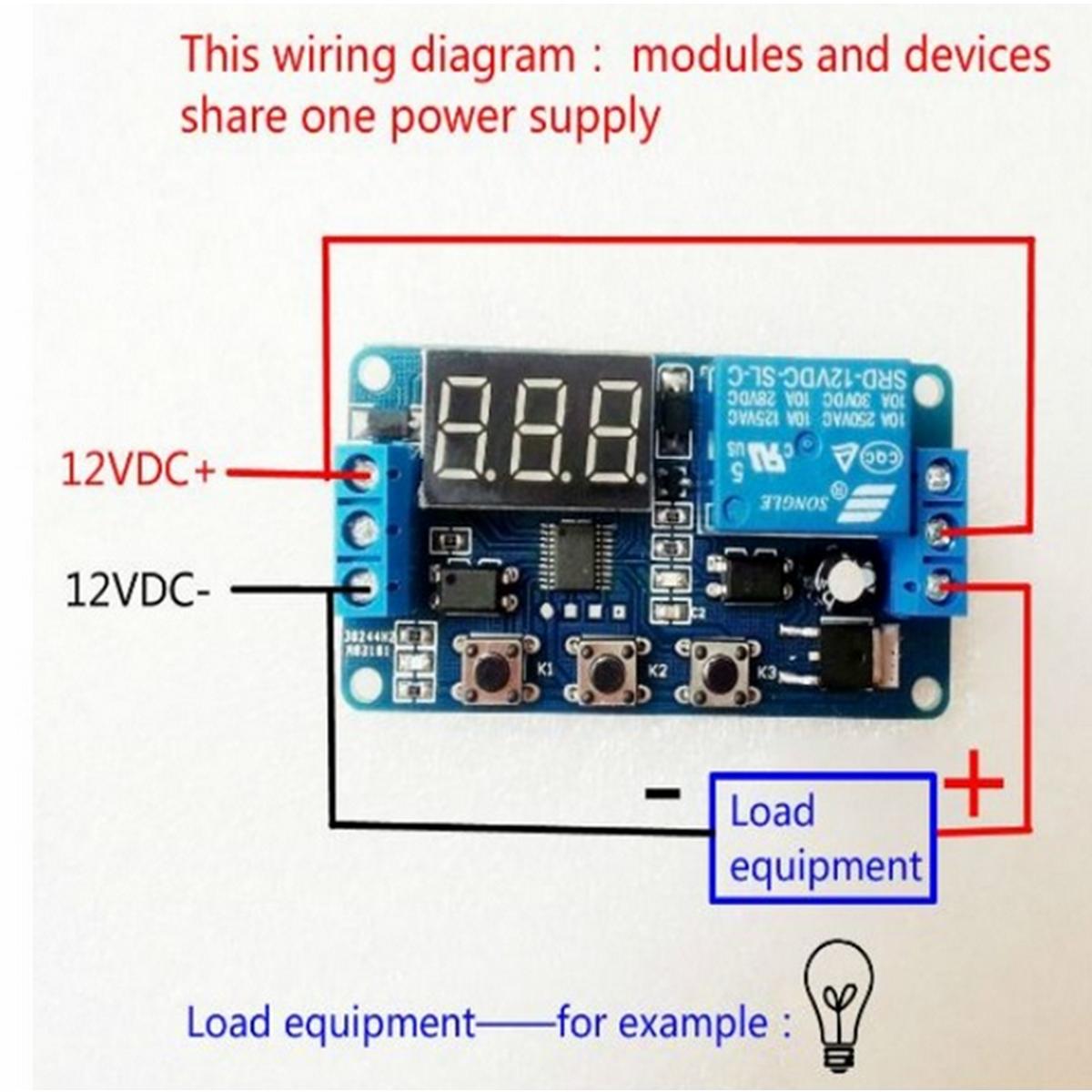 直流12 v led显示屏数字延迟计时器控制开关arduino