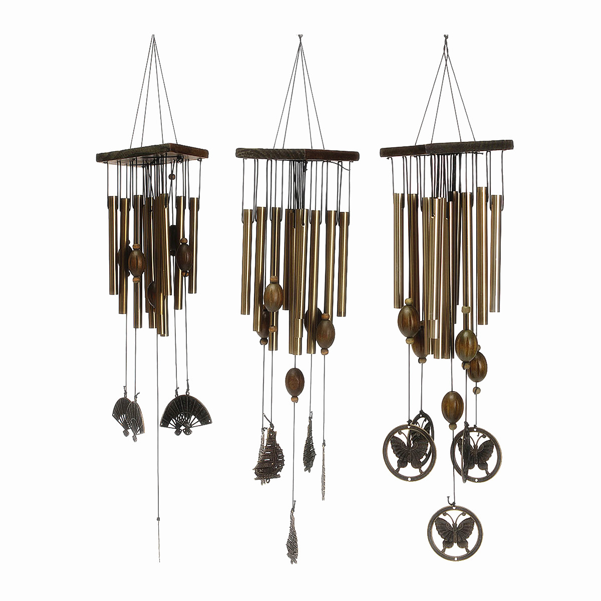 23 39 39 bronze 8 tubes metal bells wind chimes windchim. Black Bedroom Furniture Sets. Home Design Ideas