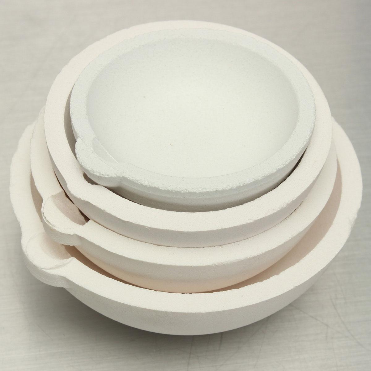 Refining Platinum: Silica Melting Melt Dishes Pot Casting Crucible For Gold