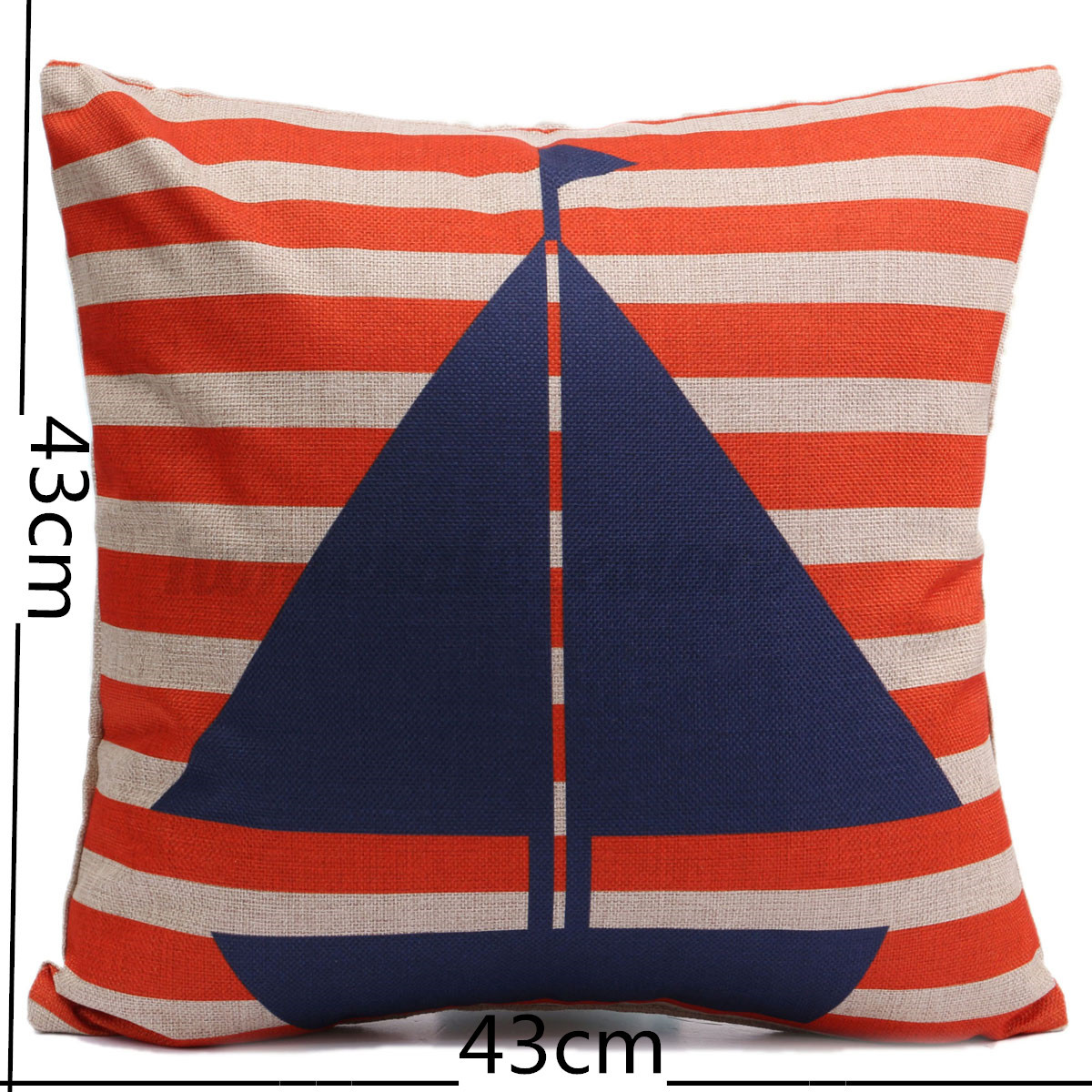 Sailing Boat Series Print Cushion Cover Sofa Home Decor Cotton Linen Pillow Case eBay