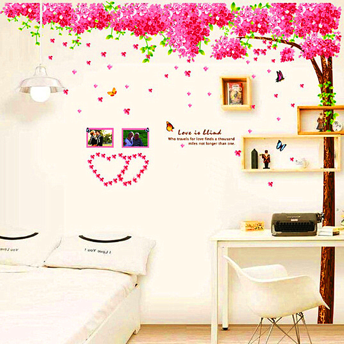 wandtattoo wandsticker wandaufkleber blumen spruch schlafzimmer wohnzimmer dekor ebay. Black Bedroom Furniture Sets. Home Design Ideas