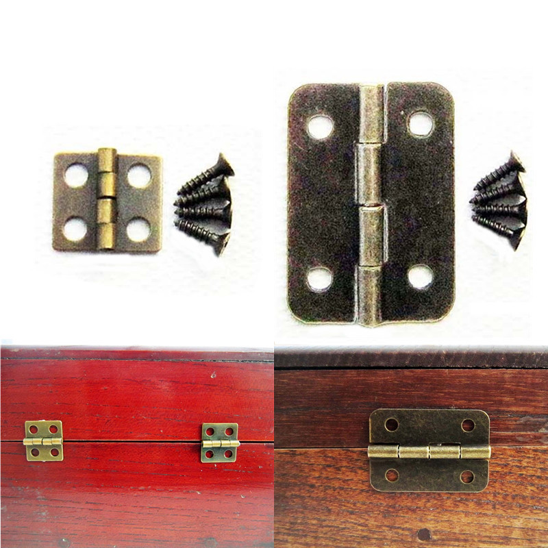 10x charni re vis laiton antique meuble tiroir bois bo te bijoux porte armoire ebay. Black Bedroom Furniture Sets. Home Design Ideas