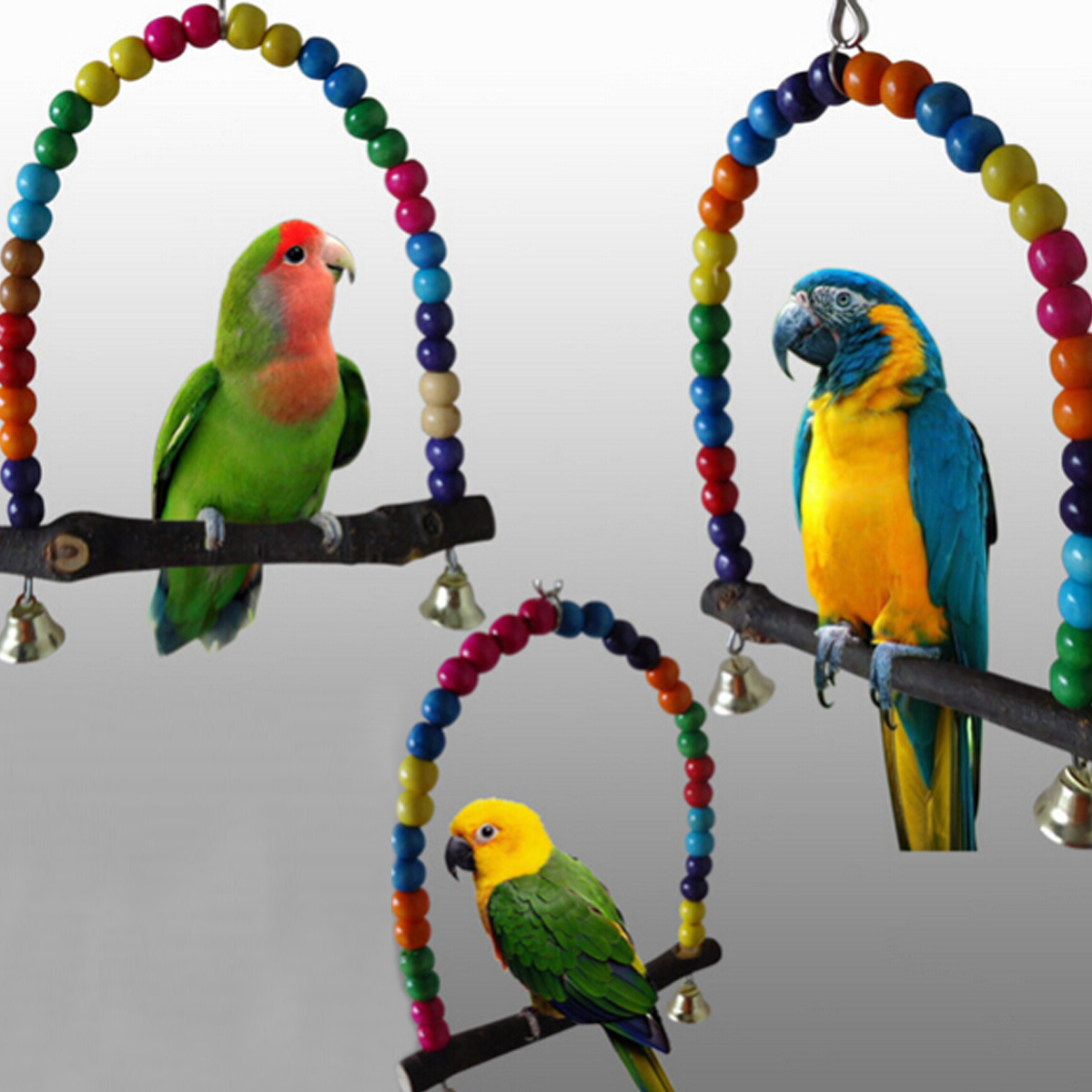 Toys For Birds : Pet bird parrot swing toys cage chew bite parakeet