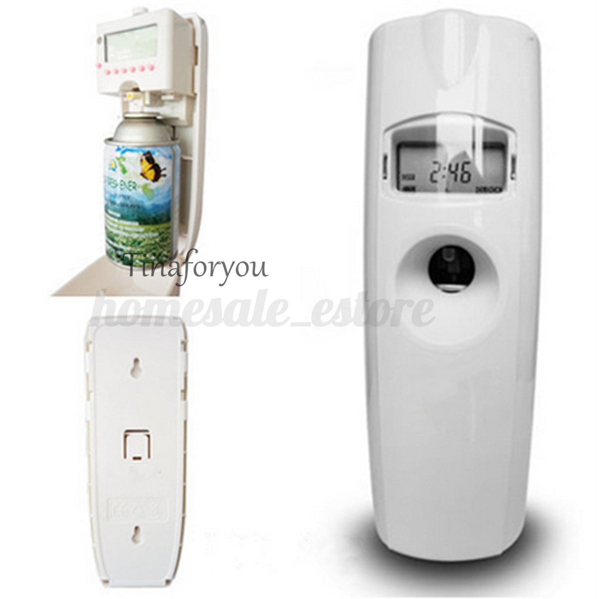 Home Automatic Fragrance Dispenser ~ Lcd wall mounted automatic timer scent dispenser perfume
