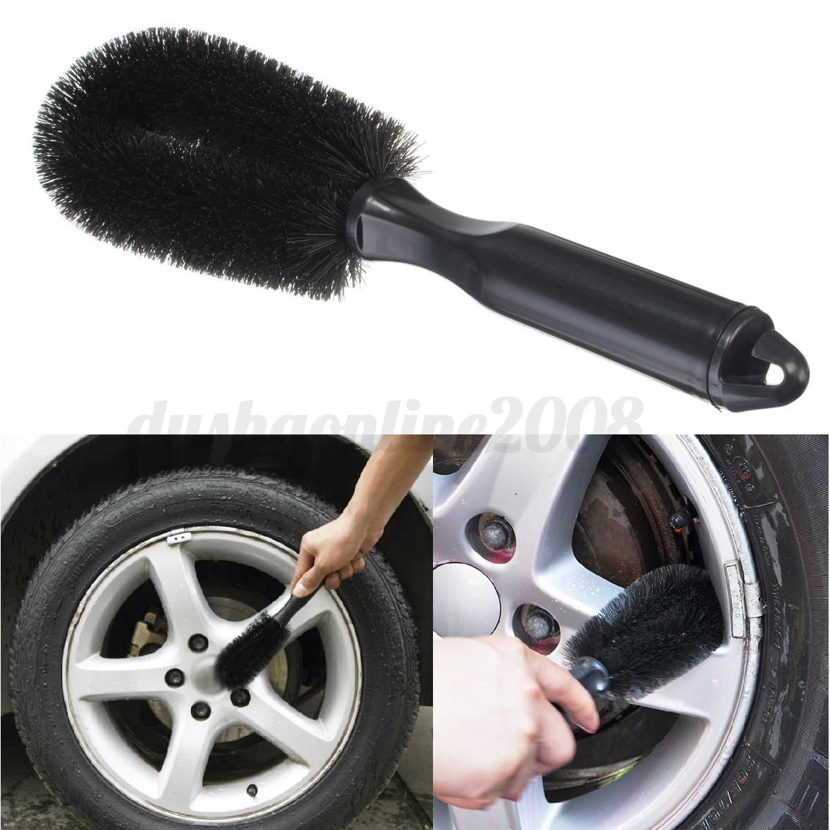 roue brosse de nettoyage nettoyer voiture v lo bicyclette moto pneu jante outil ebay. Black Bedroom Furniture Sets. Home Design Ideas