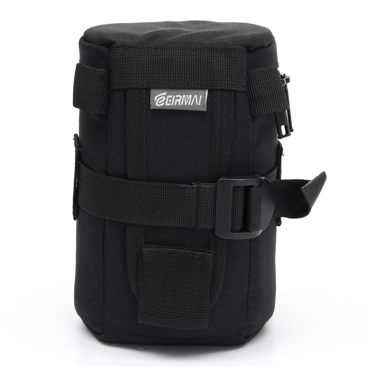 Camera Travel Pouch : Universal camera lens waist belt protector case insert bag