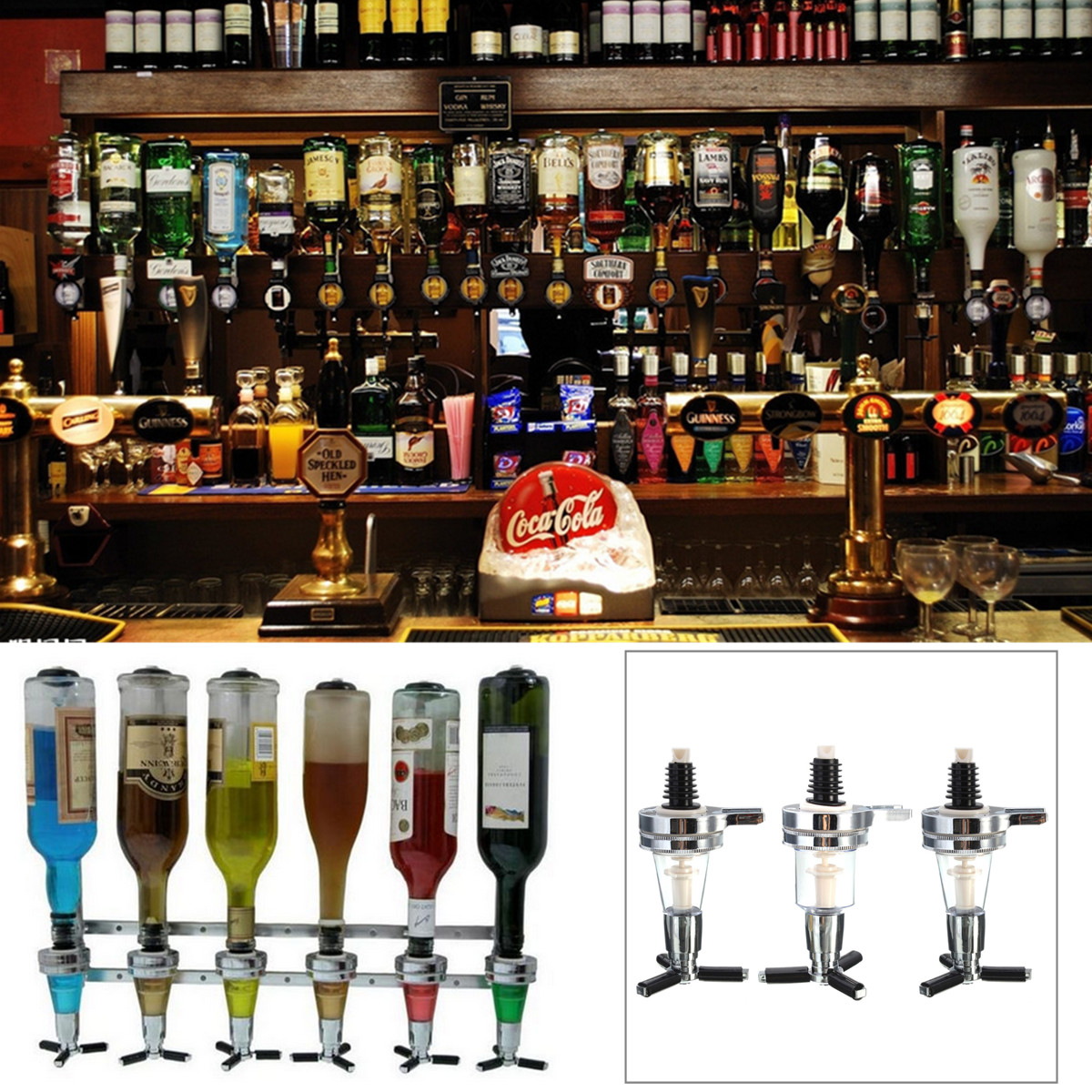 Bar Butler Wall Mounted Wine Alcohol Liquor Cocktail Beer