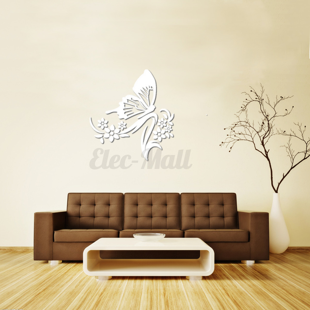 Removable diy 3d mirror surface wall stickers mural art for Diy photo wall mural