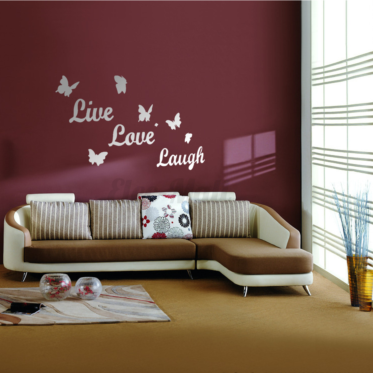 Diy Wall Art For Living Room: Removable DIY 3D Mirror Surface Wall Stickers Mural Art