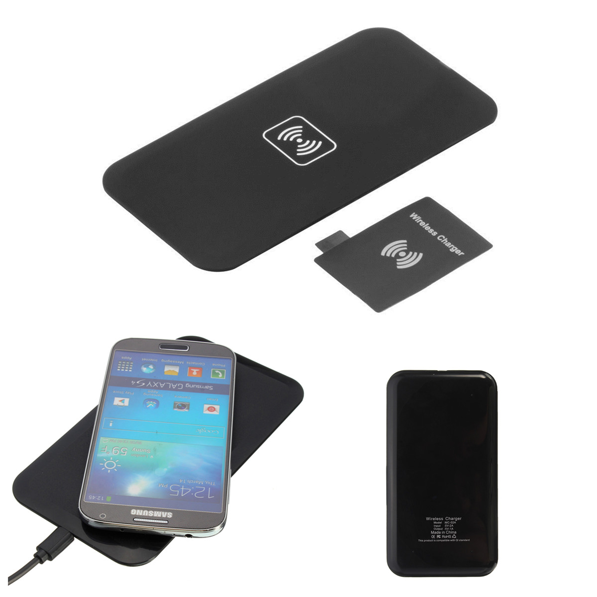pro qi wireless charging charger pad mat for iphone samsung nokia htc lg sony ebay. Black Bedroom Furniture Sets. Home Design Ideas