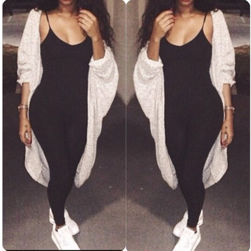 Womens Sleeveless Strap Bodycon Bodysuit jumpsuits Playsuits Rompers Leggings