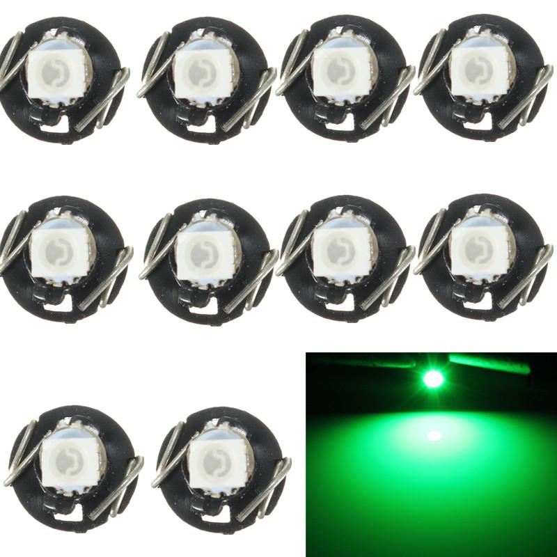 10x Neo cuña 1210 SMD 1 LED Coche Bombilla T3 HVAC Climático Control Lights Luz