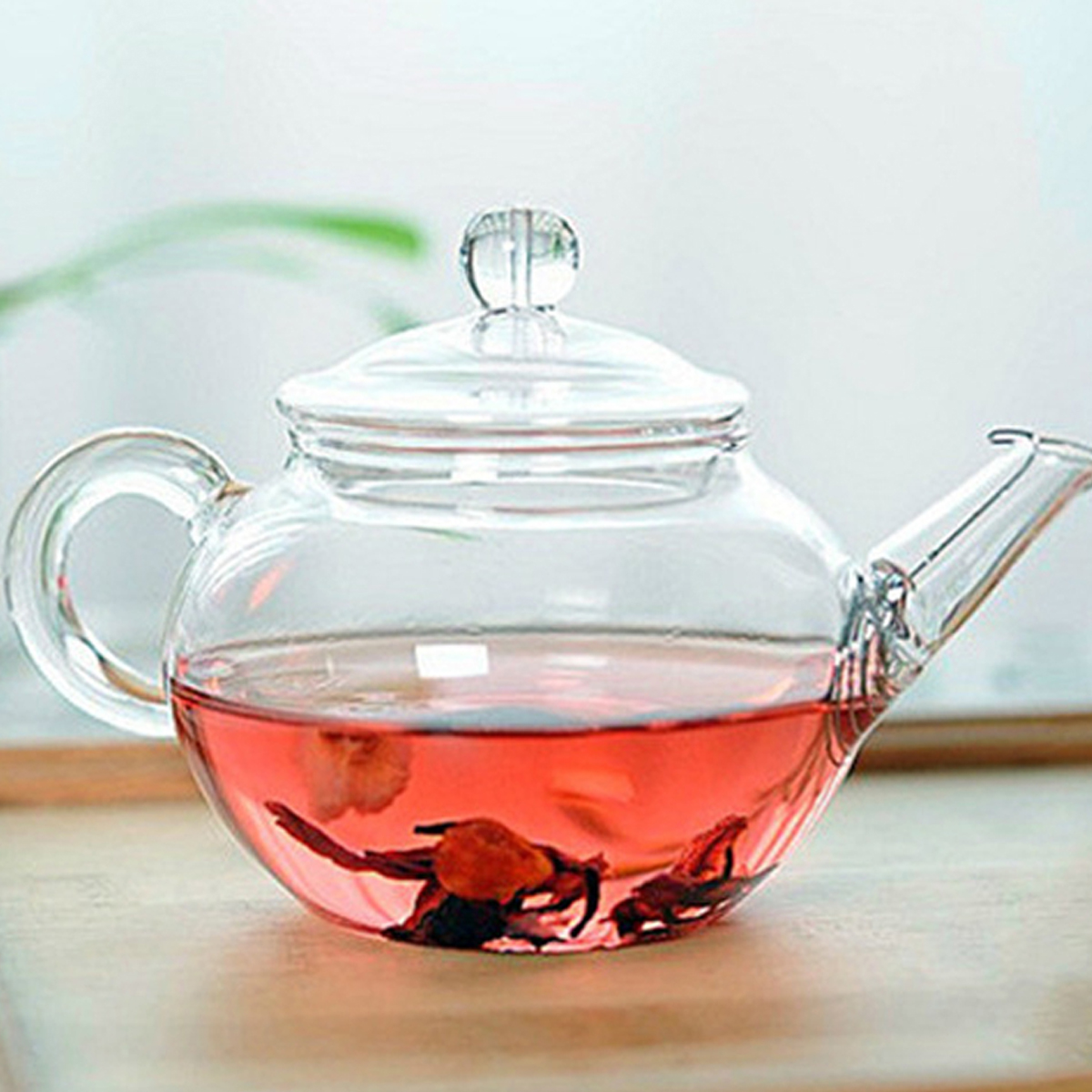 Heat resistant clear glass teapot with infuser coffee tea leaf herbal pot 250ml ebay - Tea pots with infuser ...