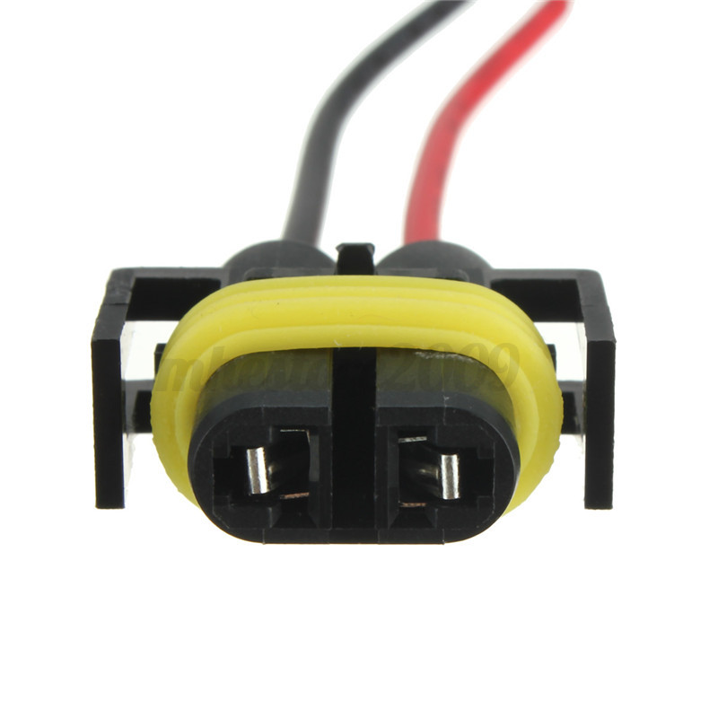 2x h11 h8 headlight  fog light female adapter harness headlight bulb socket wiring h4 headlight socket wiring