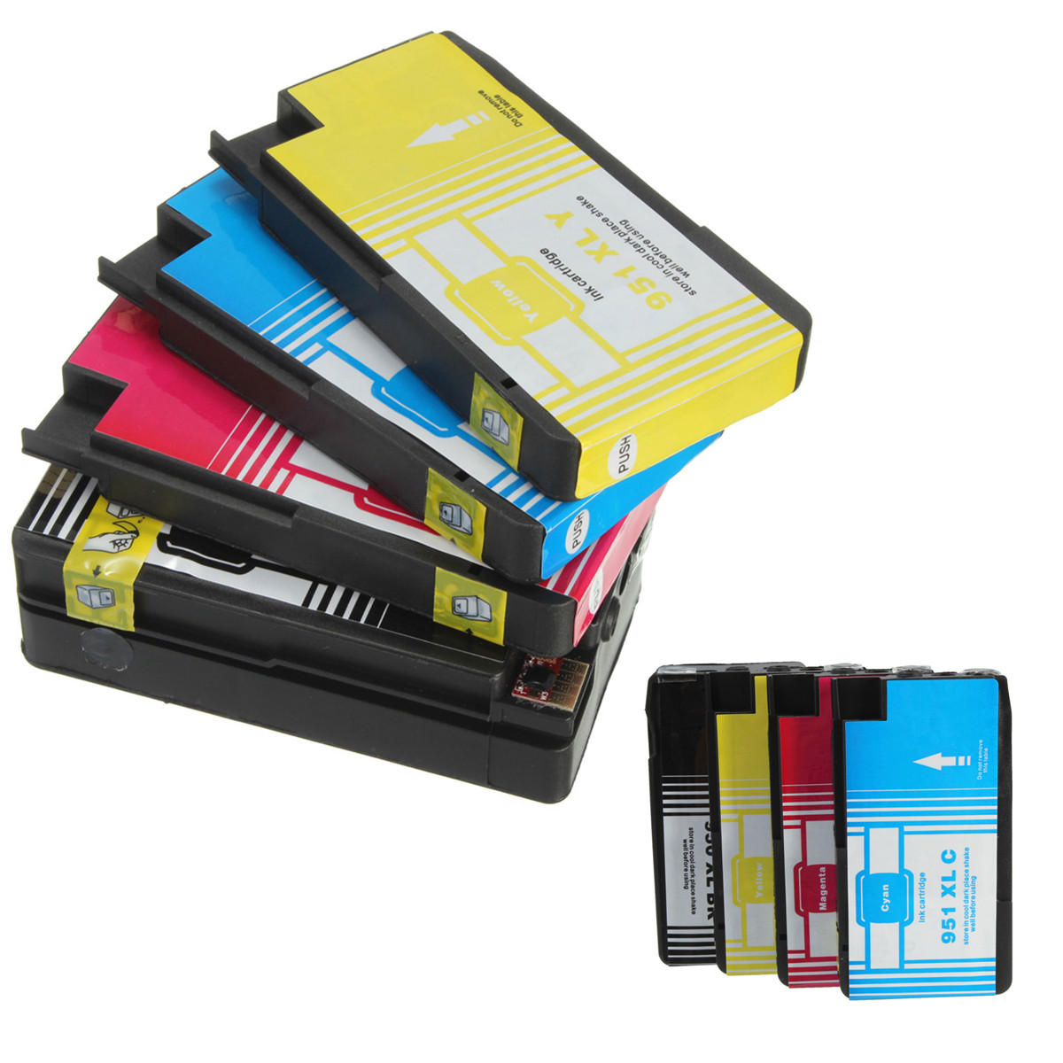 4x compatible ink cartridge with chip for hp 950xl 951xl officejet pro 8100 8630 ebay. Black Bedroom Furniture Sets. Home Design Ideas