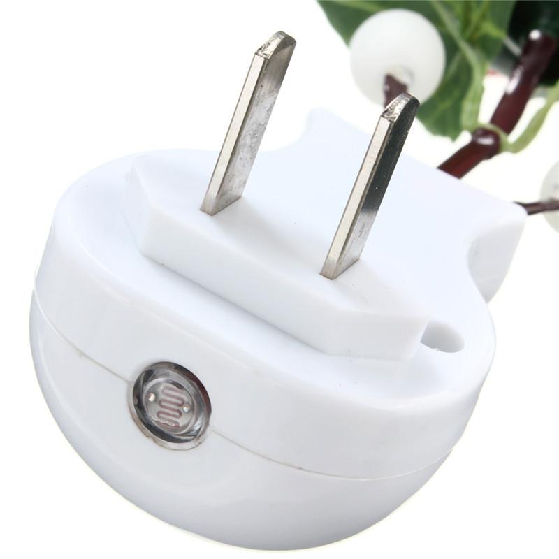 Light Sensor Control LED Plug In Rose Flower Night Lamp Kid Bedroom Wall Bulb US eBay