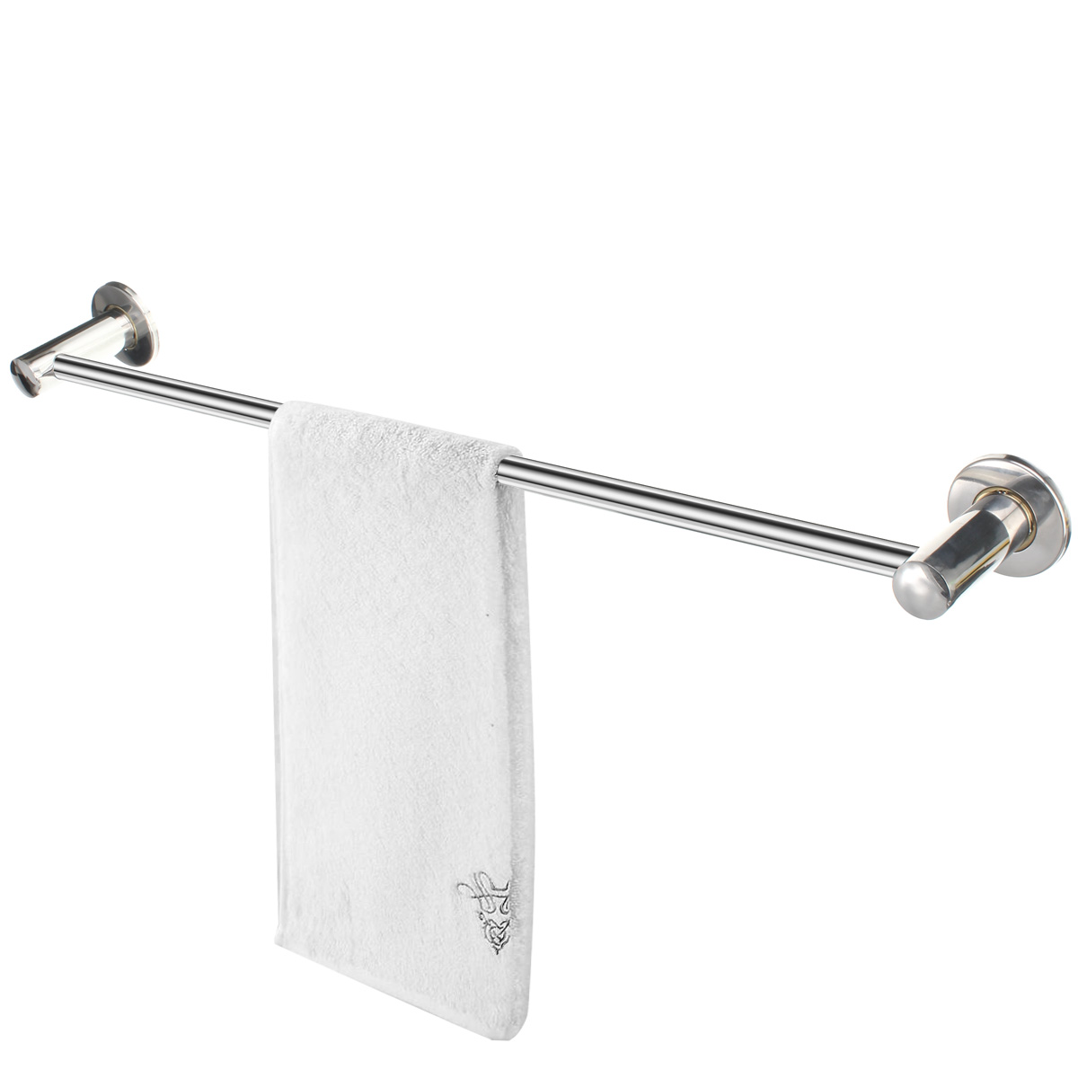 wall mounted towel rack bathroom hotel rail holder storage shelf stainless steel 192125208864 ebay. Black Bedroom Furniture Sets. Home Design Ideas