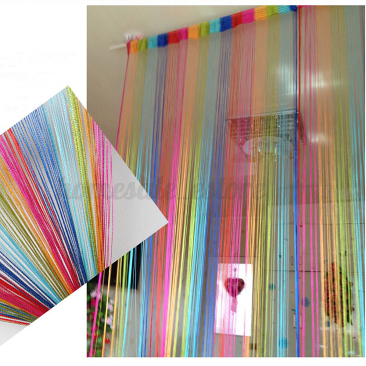 6 1 2 Sips Curtain Wall : M door window fringe wall panel room divider tassel