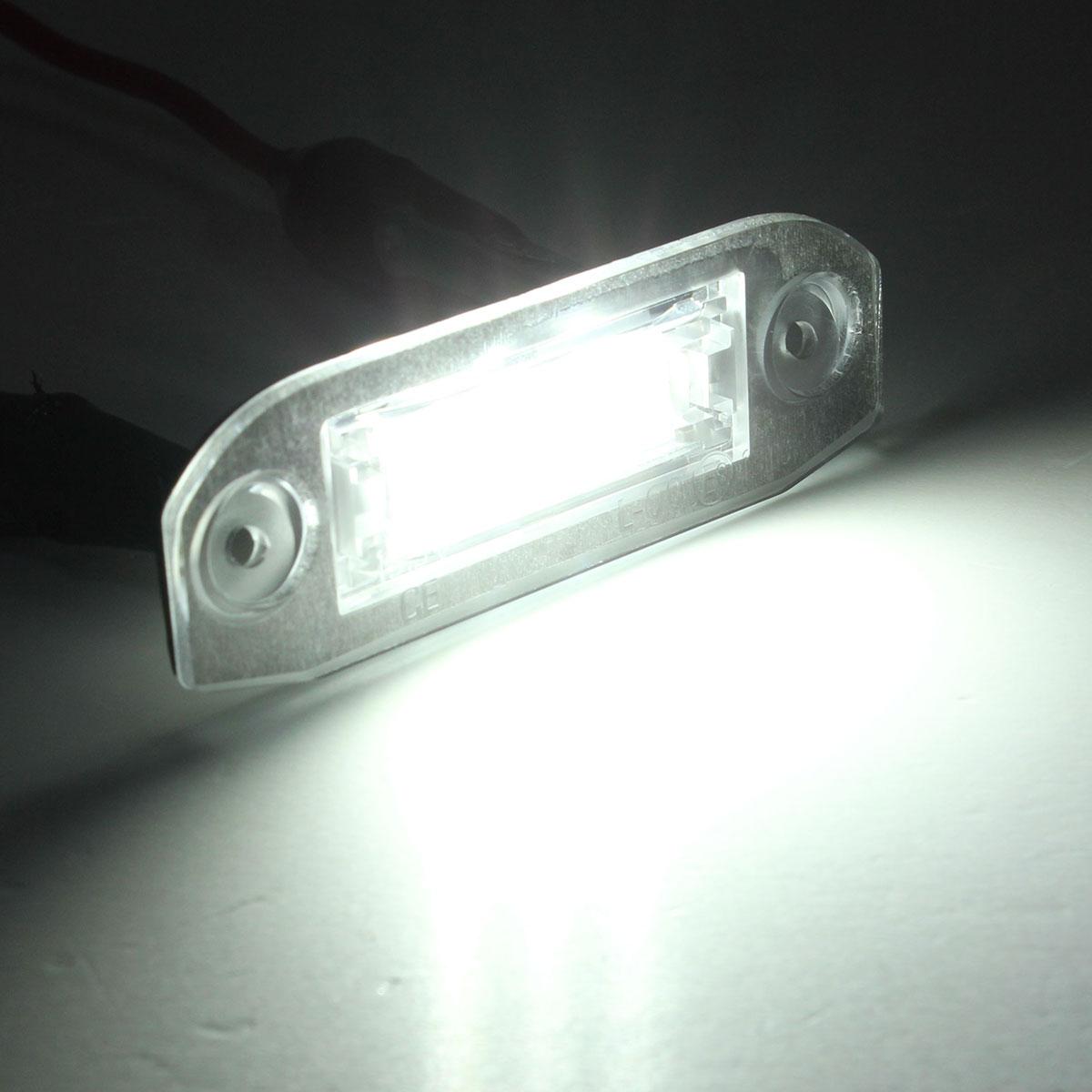 2x rear led number license plate light lamp for volvo v50. Black Bedroom Furniture Sets. Home Design Ideas