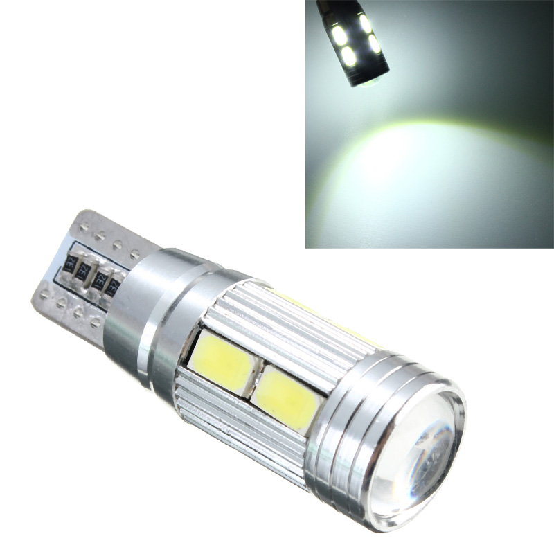 T10 W5W 194 5630 SMD 10 LED Auto Car Bulb Error Free Canbus Lens Side Light 12V