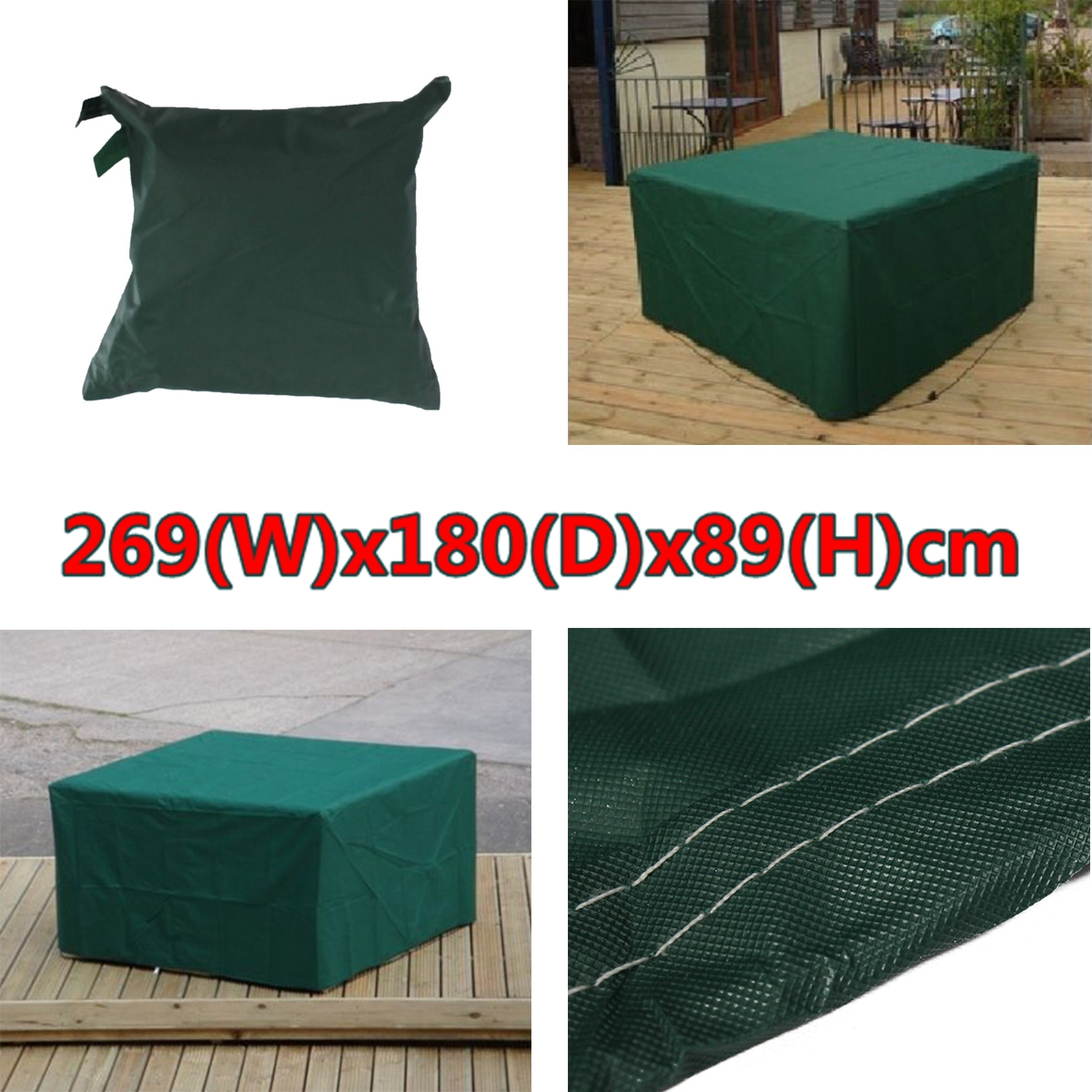 269x180x89cm Outdoor Patio Furniture Cover Waterproof Table Chair Cover UK ST