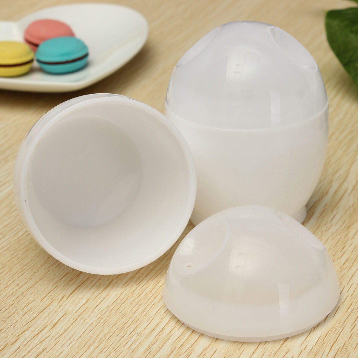 2 stk eierkocher eierbecher eierkochen eier kochen f r mikrowelle kunststoff neu ebay - Eier kochen mikrowelle ...