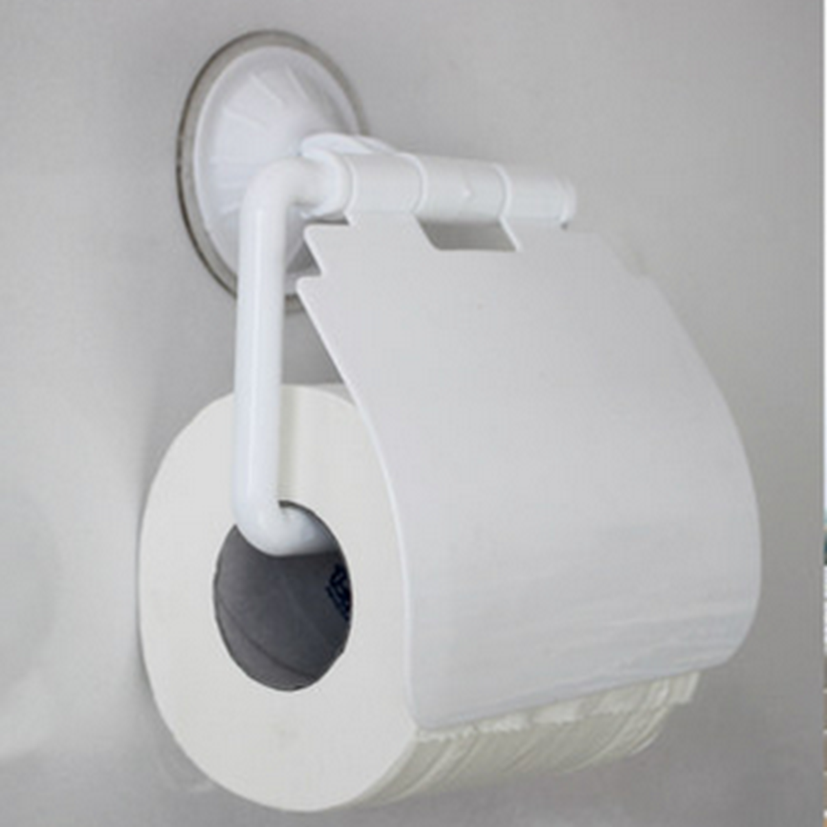 Toilet paper holder wall mounted tissue box bathroom sucker waterproof cover ebay - Tissue holder bathroom ...
