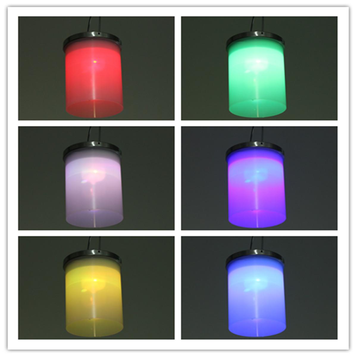 Solar Powered Hanging Cylinder Outdoor Light LED Landscape Lantern Lamp 3 Color