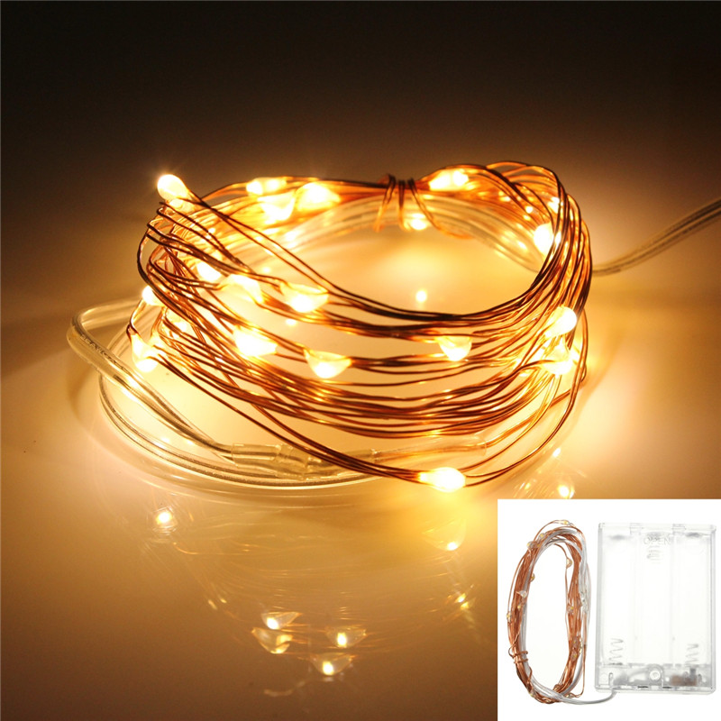 3M 10ft 30 LED String Fairy Light Battery Operated Copper Wire Xmas Lights Party eBay