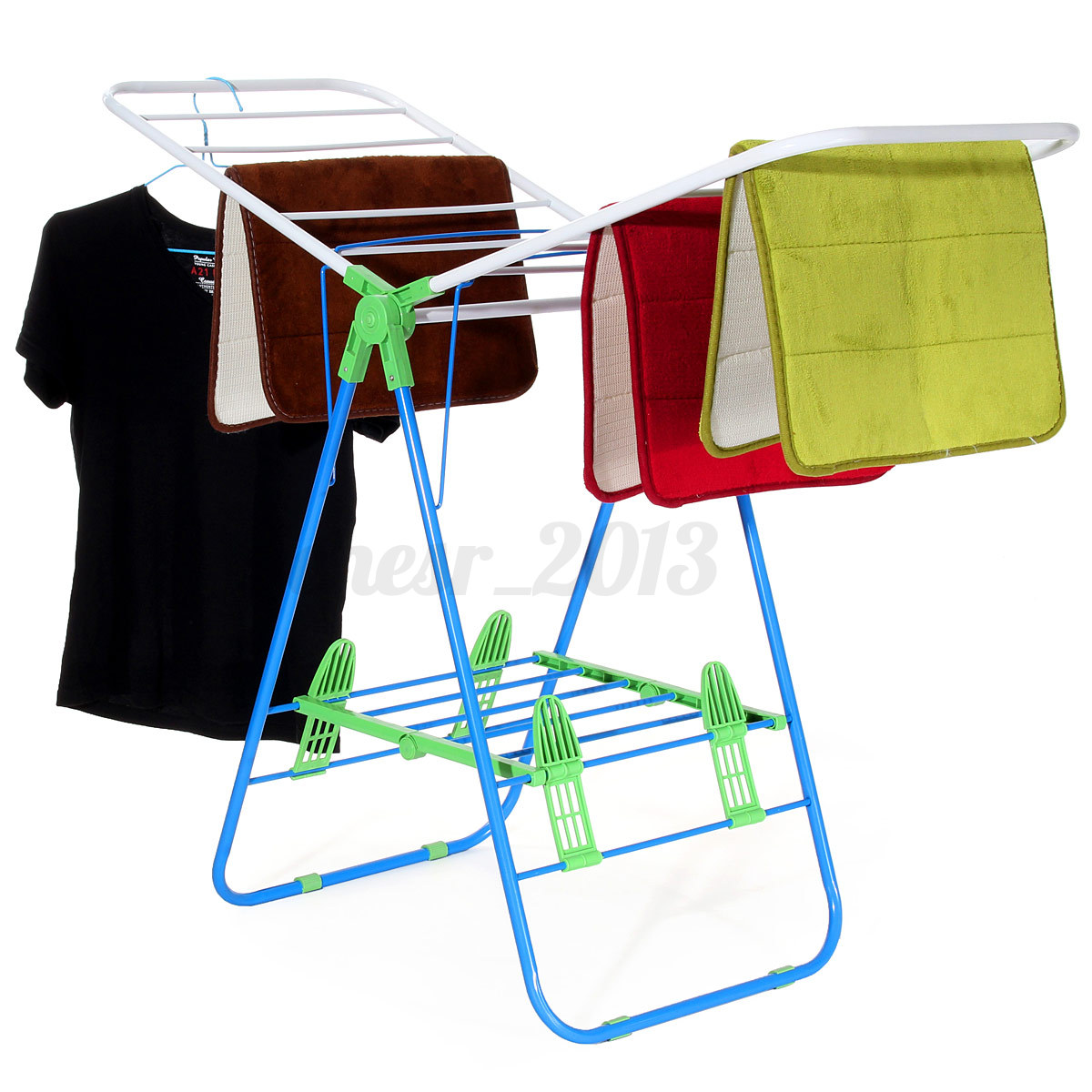 clothes drying y airer dry rack indoor folding garment laundry dryer hanger ebay. Black Bedroom Furniture Sets. Home Design Ideas