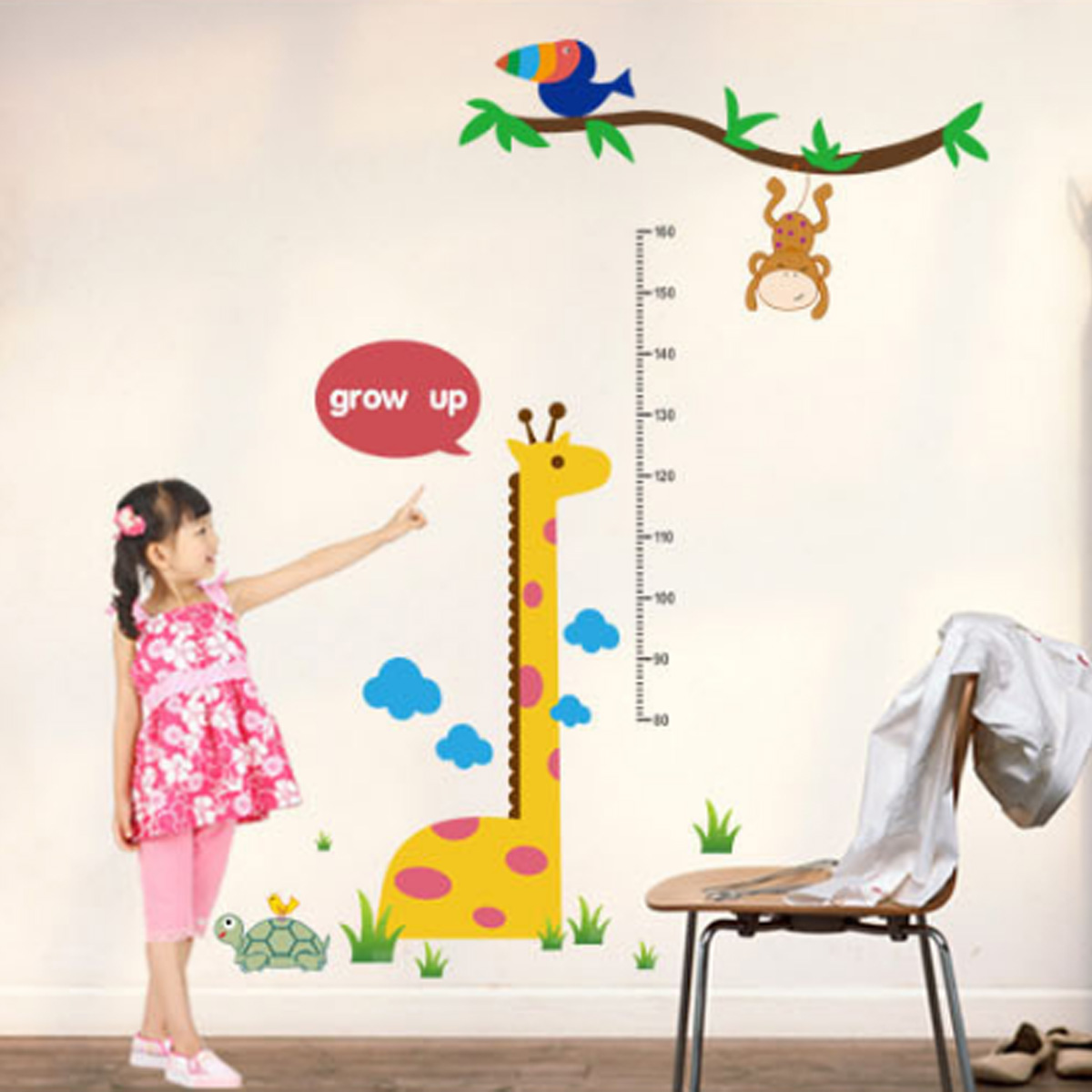new height chart kid growth measure home room nursery wall sticker new height chart kid growth measure home room