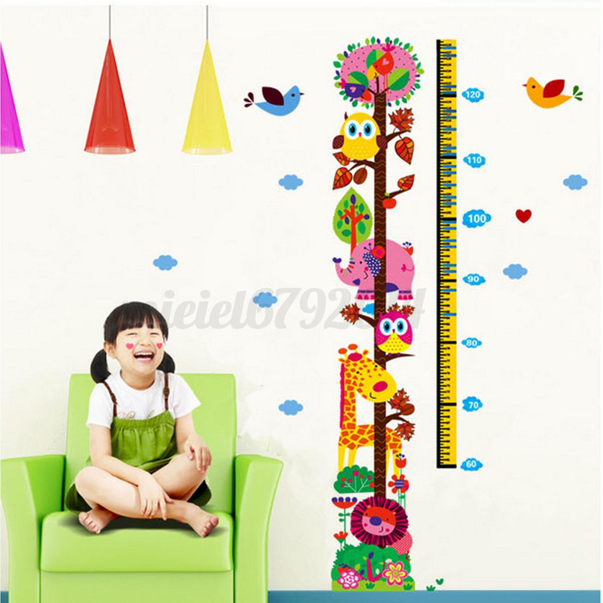 Wall Sticker Height Chart Children Height Growth Chart Measure Wall Sticker Kids