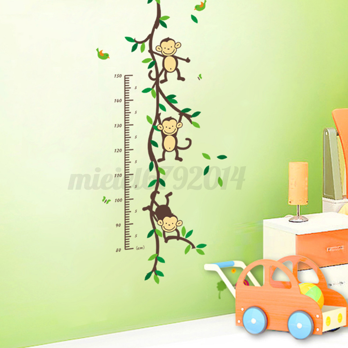 Children Height Growth Chart Measure Wall Sticker Kids  Part 87