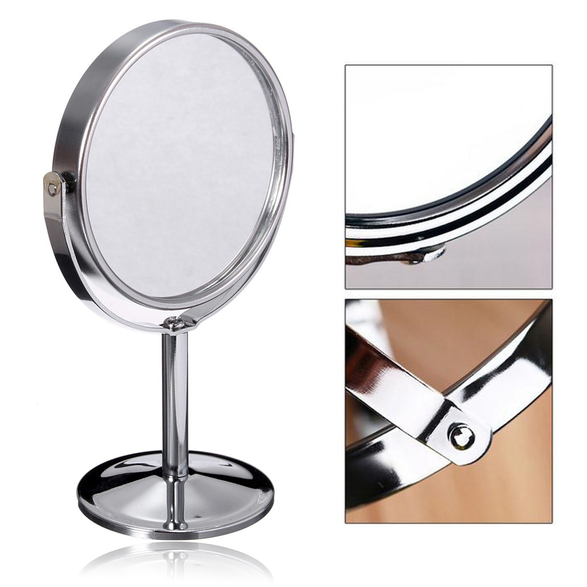 New desk stand beauty cosmetic makeup mirror double sided for Mirror stand