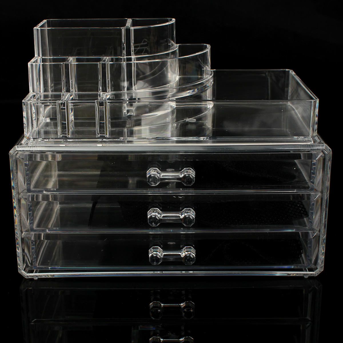 Acrylic Clear Makeup Case Display Box Organizer Holder