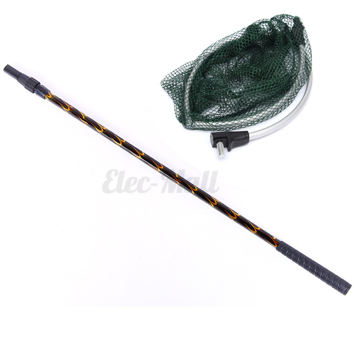 Extendable telescopic aluminum pole foldable folding for Telescoping fishing net