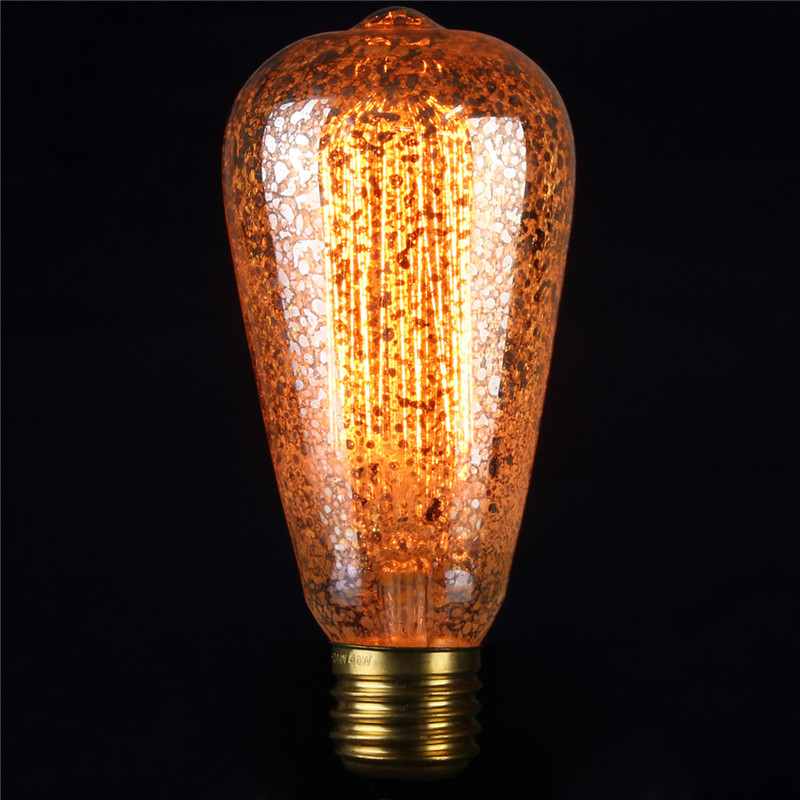 E27 E14s Vintage Retro Filament Edison Tungsten Glass Light Bulb Lamp 110v 220v