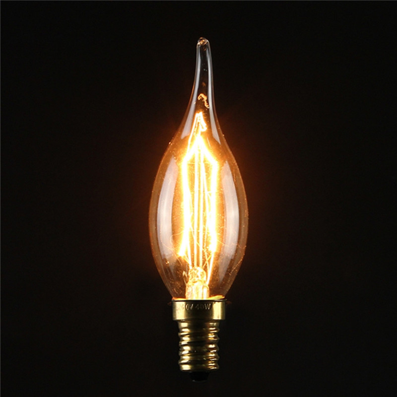 E27 e14s vintage retro filament edison tungsten glass light bulb lamp 110v 220v Tungsten light bulbs
