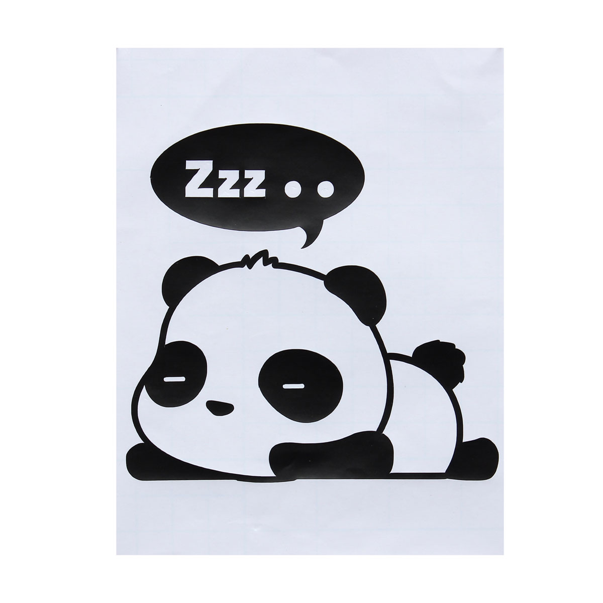 Cute Big Eyes Panda Removable Light Switch Wall Stickers