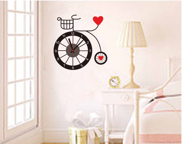 Cute Office Wall Decor : Modern cute diy wall clock pvc sticker home living office